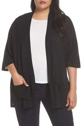 Sejour Side Slit Open Front Cardigan