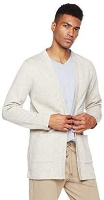 Rebel Canyon Young Men's Open Front Longline Sweatshirt Cardigan