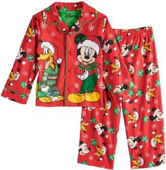Disney Disney's Mickey Mouse & Pluto Toddler Boy Christmas Top & Bottoms Pajama Set