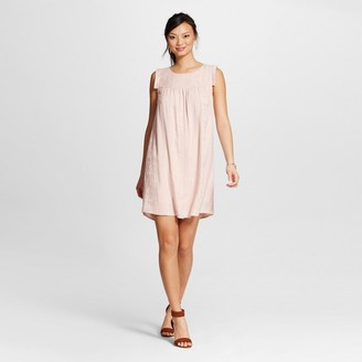 Knox Rose Women's Embroidered Gauze with Lining Shift Dress $29.99 thestylecure.com