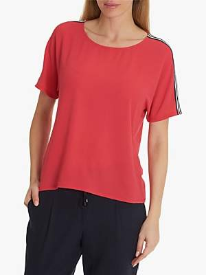 Betty Barclay Betty & Co. Crepe Textured T-Shirt, Red Raspberry
