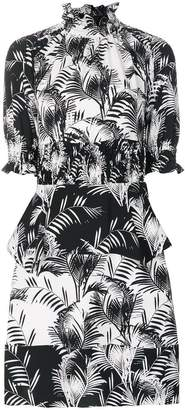 Sonia Rykiel palm print crepe smock dress