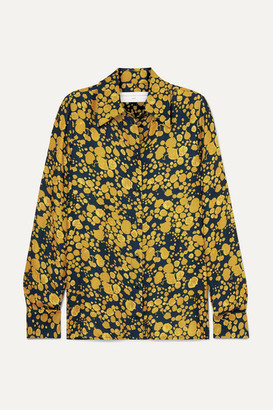 Victoria Beckham Victoria, Printed Crepe Shirt - Mustard