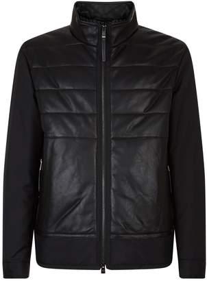 HUGO BOSS Padded Leather Blouson