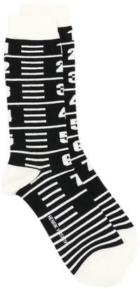 Henrik Vibskov Measuretape socks