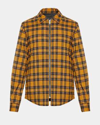 Theory Flannel Reversible Zip Shirt Jacket