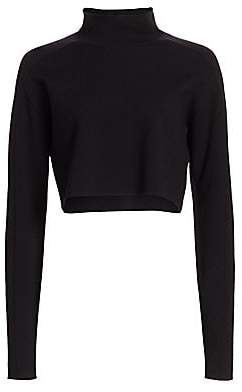 Helmut Lang Women's Cropped Turtleneck Sweater