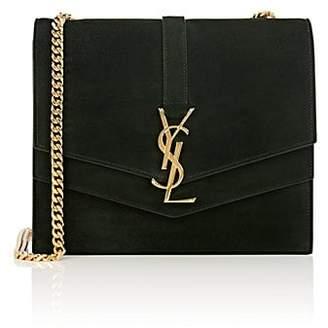 Saint Laurent Women's Monogram Montaigne Medium Suede Chain Bag