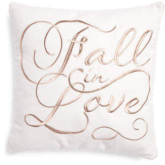 20x20 Fall In Love Pillow