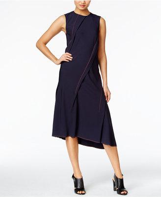 DKNY Pleated Asymmetrical Shift Dress $348 thestylecure.com