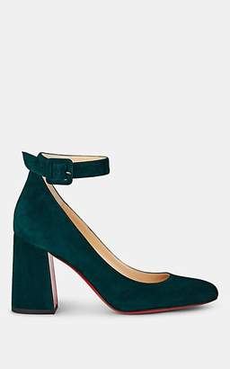 Christian Louboutin Women's Soval Suede Mary Jane Pumps - Vosges