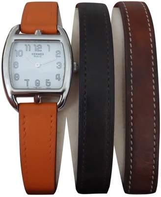 Hermes Cape Cod Tonneau Orange Steel Watches