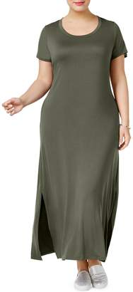 Style&Co. Style & Co. Plus Short Sleeve Maxi Dress