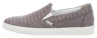 Jimmy Choo Grove Embossed Leather Sneakers