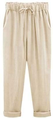 Goodnight Macaroon 'Gaia' Linen Drawstring Pants (6 Colors)
