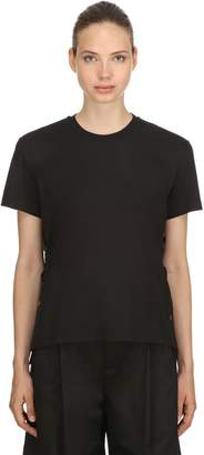 Moncler 6 Noir Jersey Technique T-Shirt