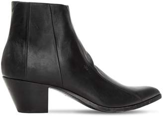 Saint Laurent 60mm Finn Leather Ankle Boots