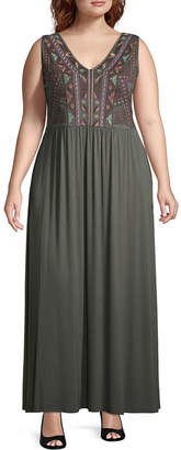 Spense Sleeveless Maxi Dress - Plus