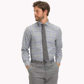 Tommy Hilfiger Cotton Twill Check Dress Shirt