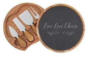 Cathy's Concepts Gifts For The Home Six-Piece Live Love Cheese Board Set