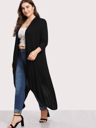 Shein Plus Asymmetrical Hem Cardigan