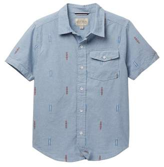 Lucky Brand Short Sleeve Chambray Shirt (Big Boys)