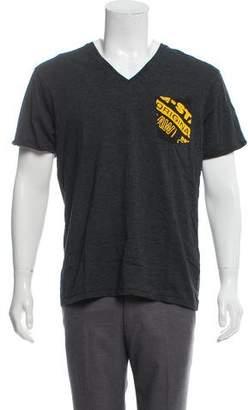 G Star V-Neck Logo Graphic T-Shirt