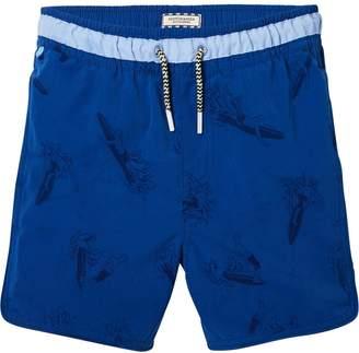 Scotch & Soda Water Effect Print Swim Shorts Medium length