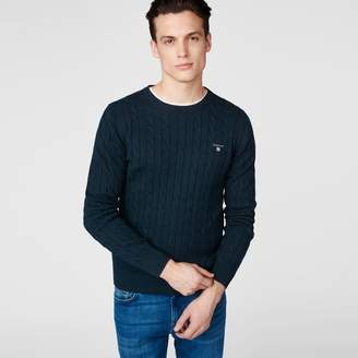 Gant Cotton Cable Crewneck Jumper