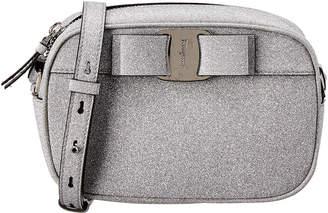 Salvatore Ferragamo Vara Bow Glitter Camera Bag