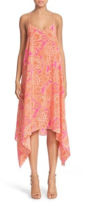 Women's Trina Turk 'Alverta' Paisley Print Silk Midi Dress $358 thestylecure.com
