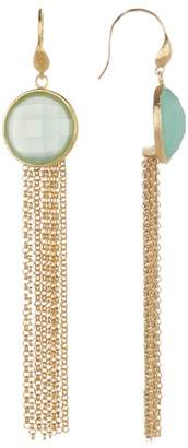 Rivka Friedman Mint Chalcedony Fringe Dangle Earrings
