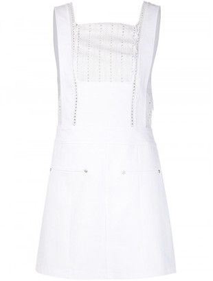 Thakoon broderie anglaise panel denim dress