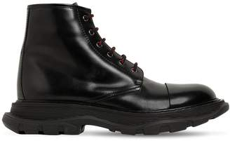 Alexander McQueen 50mm Leather Lace-Up Boots