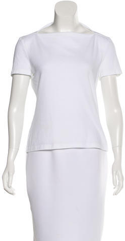 Kate SpadeKate Spade New York Short Sleeve Asymmetrical Neck Top