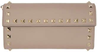 Valentino Pink Garavani Rockstud Continental Wallet