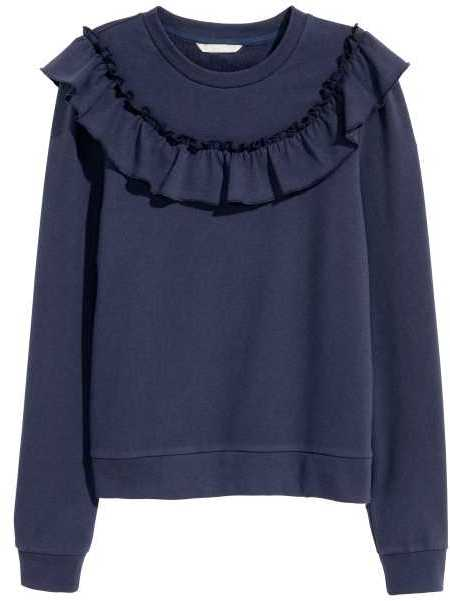 H&M Sweatshirt with Ruffle