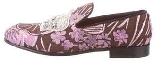 Dolce & Gabbana Jacquard Embellished Loafers