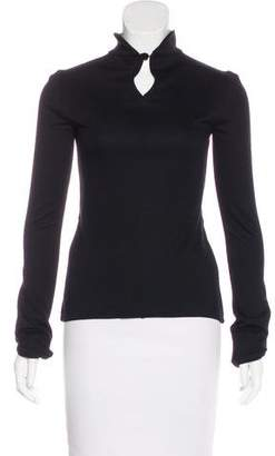 Emporio Armani Mock Neck Long Sleeve Top
