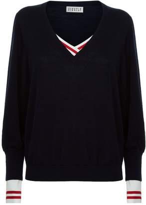 Claudie Pierlot Layered V-Neck Sweater