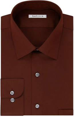 Van Heusen No-Iron Lux Sateen Dress Long Sleeve Shirt