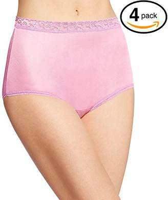 Fruit of the Loom Women's Plus-Size 4 Pack Fit for Me Flexible Fit Brief