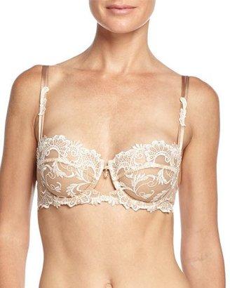 Lise Charmel Dressing Floral Demi-Cup Bra, Ambre Nacre $167 thestylecure.com