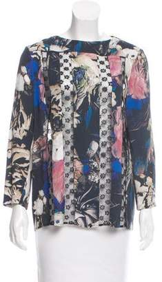 Thakoon Lace-Paneled Floral Print Top