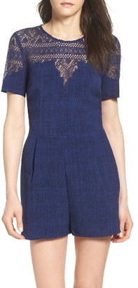 Women's Adelyn Rae Lace Romper $118 thestylecure.com