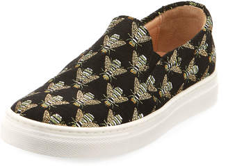 Aquazzura Cosmic Slip-On Bee Sneaker, Toddler/Youth