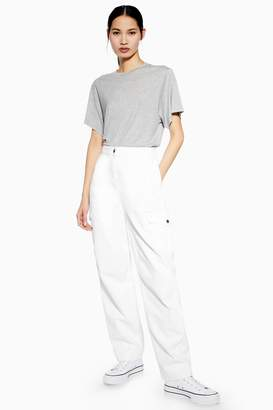 Topshop Womens **White Utility Jeans By Boutique - White