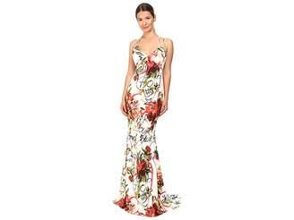 Philipp Plein Floral Sleeveless Long Dress Women's Dress