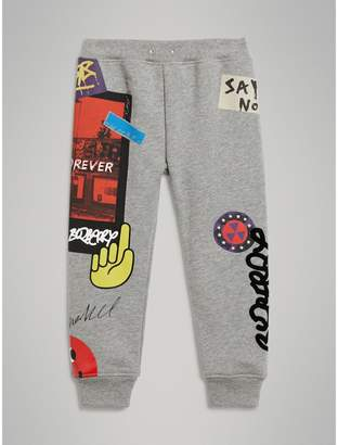 Burberry Street Art Print Cotton Sweatpants