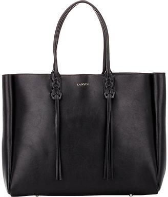 Lanvin Women's Tassel-Handle Extra-Large Shopper-BLACK $1,745 thestylecure.com